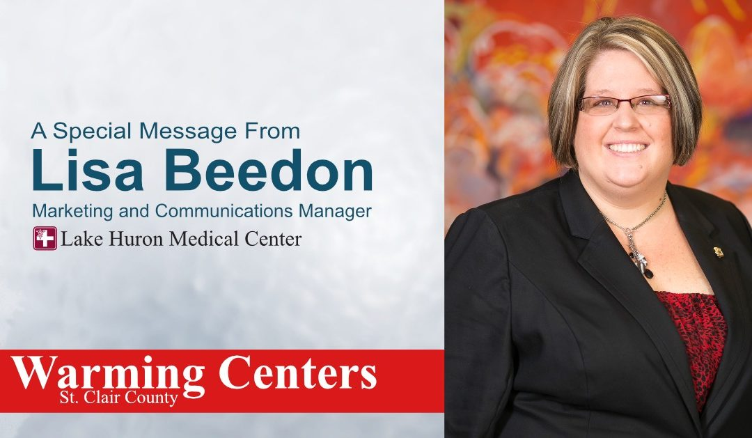 A Special Message from Lisa Beedon: St. Clair County Warming Centers