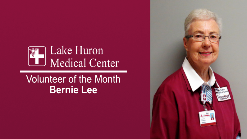Lake Huron Medical Center Honors April Volunteer of the Month
