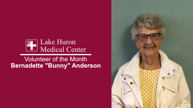 Lake Huron Medical Center Honors July 2019 Volunteer of the Month