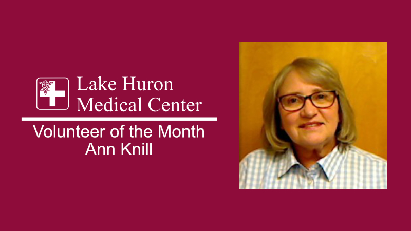Lake Huron Medical Center Honors August 2019 Volunteer of the Month